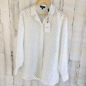 Theory Classic Printed Silk-Satin Twill Shirt
